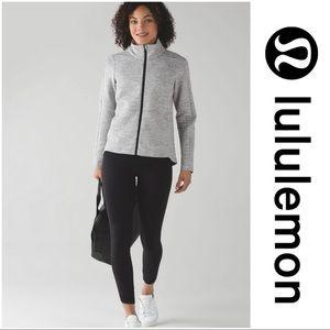 Lululemon Going Places Jacket Heathered Grey Sz 6